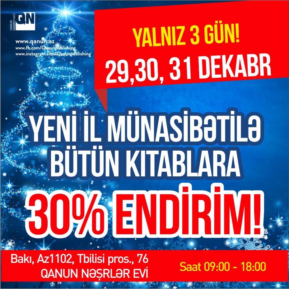 Yeni il münasibətilə endirim