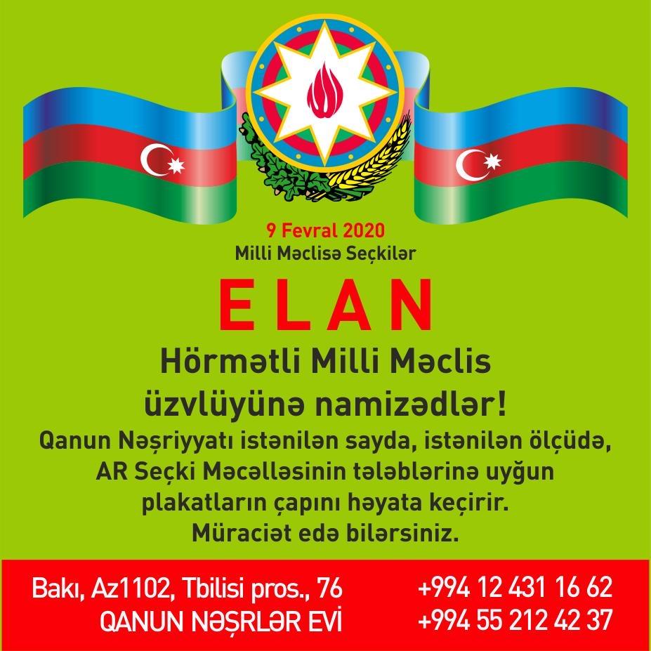"""""""Qanun""""dan deputatlığa namizədlərə"""